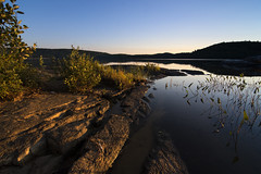 beach blanket bikini dash (Barbara A. White) Tags: algonquinpark grandlake shoreline twilight landscape