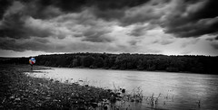 Fewston Reservoir (rockindave1) Tags: clouds water blackwhite reflections