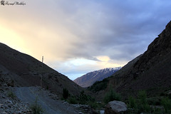 Sunset on the road to Rua. (Syed Sarmad Bukhari) Tags: road trip pakistan mountains college nature hiking wildlife north medical rua barren khyber sarmad chitral kalaash bhamborate