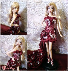 Dark Red Evening Gown (TsukiChan) Tags: eveninggown holidaybarbie