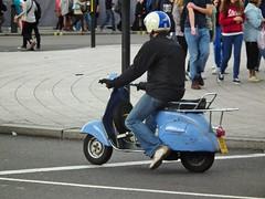 Piaggio Vespa 125 (kenjonbro) Tags: uk blue england london westminster vespa trafalgarsquare scooter charingcross twostroke piaggio 1965 125cc sw1 125 kenjonbro fujihs10 worldpride2012 jgu331c