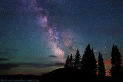 Milky Way stars over Signal Mountain summit (IronRodArt - Royc