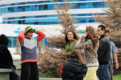 Teenage youth (World Bank Photo Collection) Tags: urban building youth laughing europe crowd group teens teen laugh activity centralasia kazakhstan worldbank gather