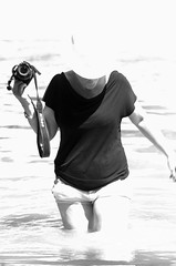 """D-Day"" in Danube (Csaba_Bajko) Tags: portrait woman water river nikon duna dday danube donau hungarian flickrmeeting 80200mmf28d slightlyoutoffocus partraszlls indigzsuzsa"