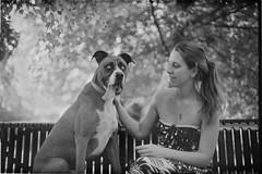 AandR (Matt Brasher Photog) Tags: park light bw dog white black film home tongue canon 50mm nikon long 14 grain bad delta seals 100 a1 leak coolscan developed ilford fd