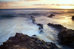 Maui Sunset (alexl78) Tags: ocean longexposure sunset color canon hawaii waves maui