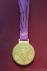 Olympic Gold Medal (MM Photo's) Tags: china london museum 35mm gold nikon display front medal winner british ribbon olympic 2012 london2012 teamgb d5000 mattmalloy mattmalloyphotography