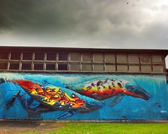 Save the whales (Shyeone ...no trades...) Tags: streetart bird graffiti dortmund hobe kibe shye shyeone