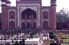 Taj Mahal main entrance The Great gate Darwaza-i rauza Agra Uttar Pradesh India Feb 1990 018 (photographer695) Tags: agra taj mahal india main entrance the great gate darwazai rauza uttar pradesh feb 1990