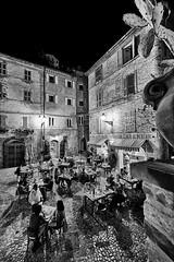 Grottammare - Piazza Peretti 01 (Promix The One) Tags: bw case bn persone ristorante marche biancoenero notturno antichità tavoli canoneos1dsmarkii sigma1530f3545exdgasph paesevecchio piazzaperetti grottammareap