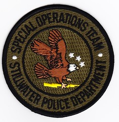 OK - Stillwater Police's Special Operations Team (Inventorchris) Tags: oklahoma public office team peace cops police safety special cop operations service law enforcement stillwater patch emergency ok patches department tactics officer swat weapons response sot srt officers polices enforcment departmetn