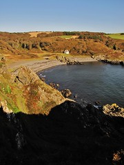 Port Kale on the South Upland Way (Jani Helle) Tags: beach scotland portpatrick dumfriesandgalloway cablehouse portphdraig september2011 portkale southuplandway