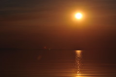 Copper sky (Great Salt Lake Images) Tags: sunset summer utah antelopeisland greatsaltlake kayaking hazy eggisland bridgerbay