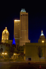 Mid-Continent Tower Nightime (aconnel) Tags: oklahoma historic tulsa hdr scenics historicstructures midcontinent