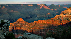 Setting Sun on the Grand Canyon (TheJudge310) Tags: sunset arizona grand august nikond70s canyon searching 2011