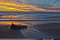 Sunrise Ripples (kevin-palmer) Tags: morning pink blue light red summer orange tree beach yellow clouds sunrise dead dawn golden early illinois sand waves pentax august lakemichigan ripples highlandpark hdr kx dritwood neutraldensityfilter fortsheridan lakecountyforestpreserve tamron1750mmf28