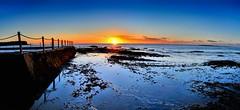 Serenity (evangelique) Tags: ocean morning light sky sun beach water pool sunrise reflections concrete dawn rocks sydney clear newport nsw railing tidal tidalpool northernbeaches oceanbath beachpool