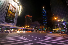other. (Peter Kuo.) Tags: bridge blue light people beautiful look car night photography scenery shot sony picture taiwan led 101 taipei tamron a700 1024mm