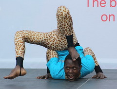 Edinburgh Fringe Festival 2012: Mother Africa Contortionist (chairmanblueslovakia) Tags: africa street city money festival that scotland high edinburgh stage capital mother royal scottish bank fringe virgin contortionist cirque mile performs 2012 flexible on the