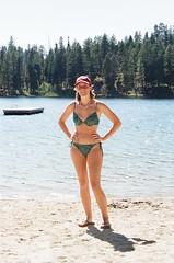 Mandi 2011 (peter roslan) Tags: trees woman lake cute girl beauty smile pretty skin sandy hips bikini blond swimsuit beachs teenage sandybeach peterroslan