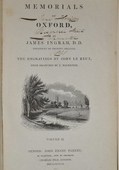 Memorials of Oxford 1837 - title page Vol 2 (AndyBrii) Tags: old england history james university antique steel sydney books oxford newsouthwales press rare parker memorials engravings parramatta houison