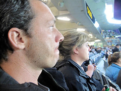 Bledisloe Cup, New Zealand Vs Australia, Eden Park (russelljsmith) Tags: newzealand woman man fleur rugby edenpark watching australia auckland jacket allblacks interest 2012 bledisloecup 77285mm
