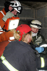 Double Whammy 2009 359 (IainDK) Tags: lincolnshireusarteammembersarejoinedbyhartparamedicswhotreatacasualty usar urban search rescue west yorkshire exercise double whammy whamy fire collapse multi agency xxx
