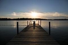 Swedish color in Finnish Seaside (張Chang 聖Sheng 弘Hung) Tags: sunset sea finland polar pietarsaari