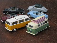 Volkswagen T1 Split-screen & T2 Bay-window Campers, Beetle Hebmuller Cabriolet, Karmann-Ghia Coupe & Cabriolet, plus Type 3 Karmann Ghia 1500 Coupe (andreboeni) Tags: 143 classic german model car collection cars voitures classique miniature deutsche autos retro auto oldtimer modellauto vw volkswagen vwcamper camper t2 bulli transporter kombi combi hebmuller beetle kever kafer cabrio cabriolet karmann ghia karmannghia 1500 coupe 1200 splitscreen t1