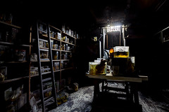 Cabinet of curiosities  Explore #72 (Subversive Photography) Tags: school abandoned animals atmosphere eerie explore ladder derelict samples hdr veterinary formaldehyde horrorlabs danielbarter