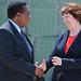 Catherine Ashton meets UN Special Representative & Head of the UN Political Office for Somalia, Augustine Mahiga