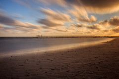 Steg am Hvidbjerg Strand (chacky094) Tags: 2016 dnemark efs1855mmf3556isii eos600d hvidbjerg meer nordsee sand sonnenuntergang strand urlaub nd 30