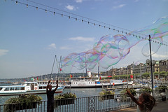 Geneva (Paul Cayton) Tags: city fountain bubbles cathedral lausaane switzerland olympics lakegeneva alcleman lacleman olympic lausanne geneva