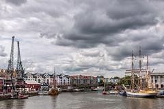 JP70D_IMG_7196 (John Perriam DPAGB AFIAP) Tags: england uk canon eos harbour dock ship river boat cranes sky cloud