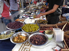 Olives and more (seikinsou) Tags: brussels belgium bruxelles belgique summer market chasseursardennais olive chili stall food