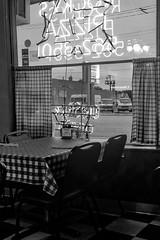 (211/366) Rocky's Pizza (CarusoPhoto) Tags: pizza restaurant retro vintage john caruso carusophoto photo day project 365 366 black white bw iphone 6 plus banal mundane everyday ordinary