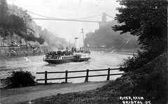 Paddle steamer on the River Avon Bristol (Boxbrownie3) Tags: riveravon cliftonsuspensionbridge paddlesteamer campbells bristol pa