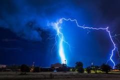 2016-08-31 E Lightning Over Nogales Airport (Lovelight Photo) Tags: red nogales arizona nogalesaz nogalesarizona monsoon monsoon2016 thunderstorm azwx lightning nia nogalesinternationalairport nogalesairport santacruzcounty