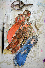 New laminated bookmarks with charm (The Girl with the Flaxen Hair) Tags: natiart fantasy renaissance medieval lotr fairytale fable handmade papergoods papercraft craft bookmarks illustration art kawaii etsyshop etsy