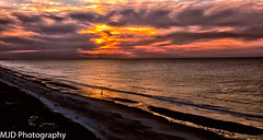 Magical Morning in Myrtle beach (mjdrhd) Tags: morning cluds color sand beach shoreline light sunrise beauty ocean seascape