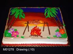 M01278 (merrittsbakery) Tags: cake luau seasonal summer vacation hawaii tropical beach party