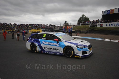 James Cole on the grid during the BTCC Knockhill Weekend 2016