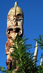 Pou (JayVeeAre (JvR)) Tags: 2016johannesvanrooy canonpowershotg10 carving gimp28 hamilton hamiltongardens hamiltron httpwwwflickrcomphotosjayveeare httpwwwpanoramiocomuser1363680 johannesvanrooy johnvanrooy johnvanrooygmailcom maori picasa3 pou winter
