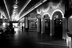 After hours light (Greenneck) Tags: pikeplacemarket seattle blackandwhite lighting public urban washingtonseattlewashingtonunitedstatesus