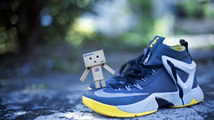 Now Can We Play Ball? (Lemuel Montejo) Tags: danbo toy stilllife shoes nike lebronambassadorviii
