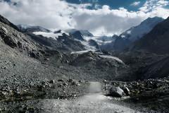 melt down walk (pat.netwalk) Tags: melting melt ice glacier morteratsch engadin switzerland copyrightpatrickfrank mountains clouds