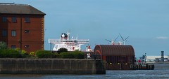 Bodil Knutsen (frisiabonn) Tags: knutsen oil tanker mersey river sea ship boat water merseyside wirral liverpool tug svitzer bidston uk great britain england united kingdom outdoor maritime products bodil birkenhead woodside tranmere terminal large huge big knot long red white