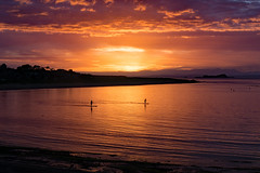 Firth of Forth (mikeinromsey) Tags: firth forth north berwick sea sunset paddle board