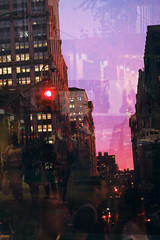 Dusk (aileyh3) Tags: overlay color colorful photography photo night time light pink pinky walking back home random moment