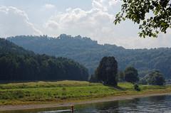 Elbe und Knigstein (Veit Schagow) Tags: elbe river fluss flussbiegung knigstein